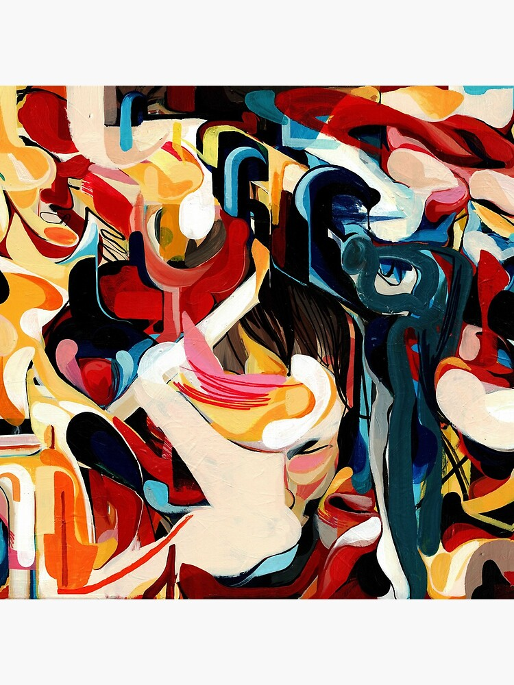 Expressive Abstract Composition painting  by CatarinaGarcia