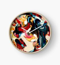 Expressive Abstract Composition painting  Clock