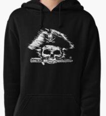 Pirates Adventure Mallorca Merchandise Skull Black Pullover Hoodie