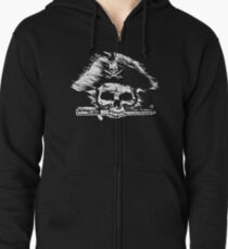 Pirates Adventure Mallorca Merchandise Skull Black Zipped Hoodie