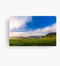beautiful sunrise in mountains Canvas Print