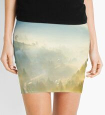 road through the village in foggy valley Mini Skirt