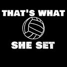 """Trending Volleyball """"That's What She Set"""" Funny by DSweethearts"""