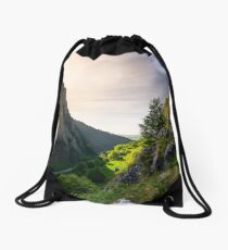 road in Canyon of Trascau mountains Drawstring Bag