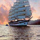 Royal Clipper At Dawn by Nancy Richard