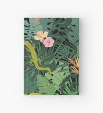 Chamäleons und Salamander im Dschungel-Muster Notizbuch