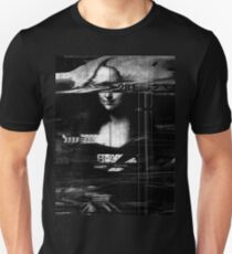 Mona Lisa Glitch Unisex T-Shirt