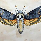 Death's Head Moth by Watercolor Naturalist