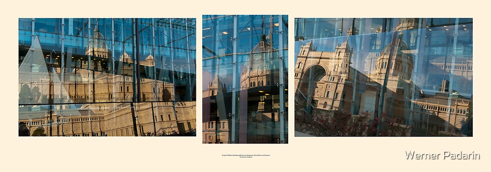 Royal reflections - triptych by Werner Padarin
