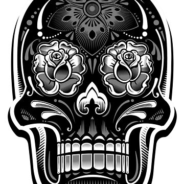 Muerte Sugar Skull - Digital Print by Arek619