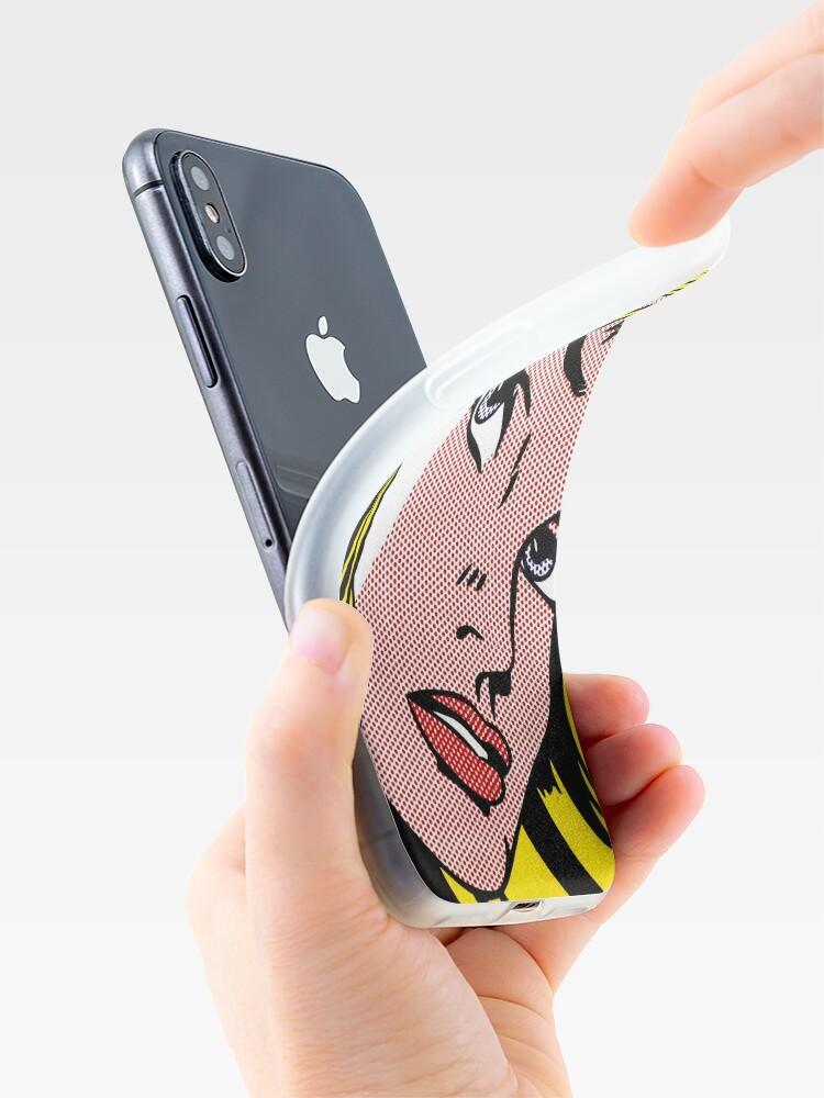Vista alternativa de Vinilos y fundas para iPhone Cara de niña del arte pop, Roy Lichtenstein