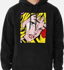 Visage de fille pop art, Roy Lichtenstein Sweat à capuche