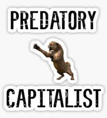 Predatory Capitalist Lion Sticker