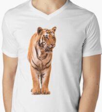 Male Bengal Tiger Men's V-Neck T-Shirt