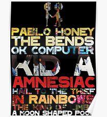 Radiohead albums Poster