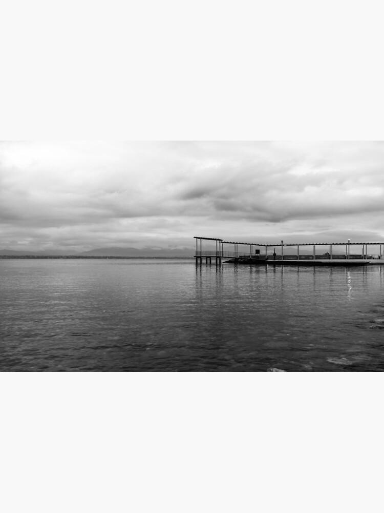 Black and white Wooden Pier  by marcojakko