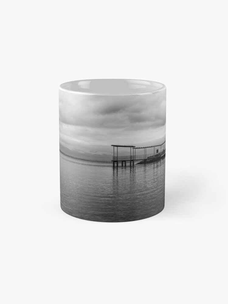 Alternate view of Black and white Wooden Pier  Mugs