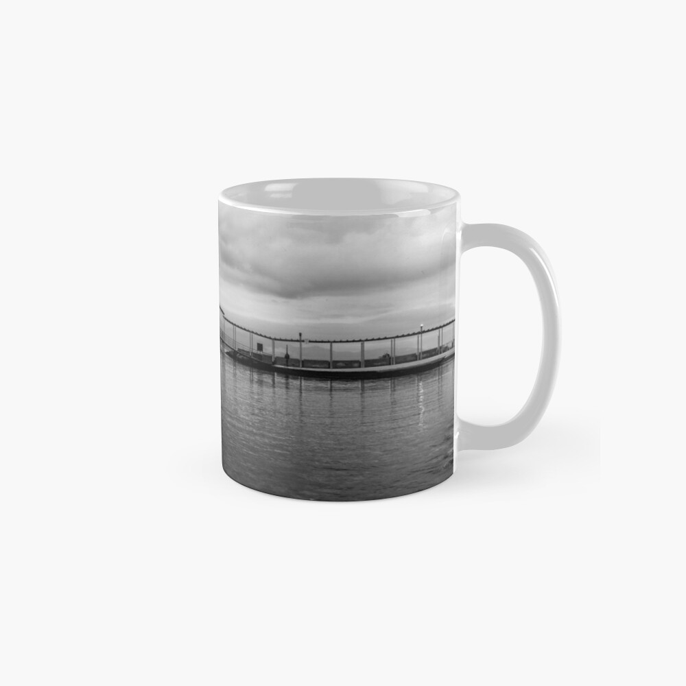 Black and white Wooden Pier  Mugs
