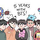 BTS: HAPPY 5TH ANNIVERSARY  by randomsplashes