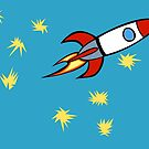 For a Boy (Rocket with Matisse Stars) by Richard Ackoon