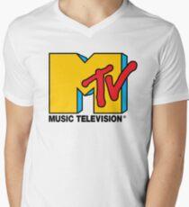 MTV Music Television Logo Men's V-Neck T-Shirt