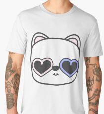 Cool Kitty Cat with Heart Sunglasses Men's Premium T-Shirt