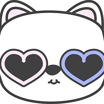Cool Kitty Cat with Heart Sunglasses by meetminnie