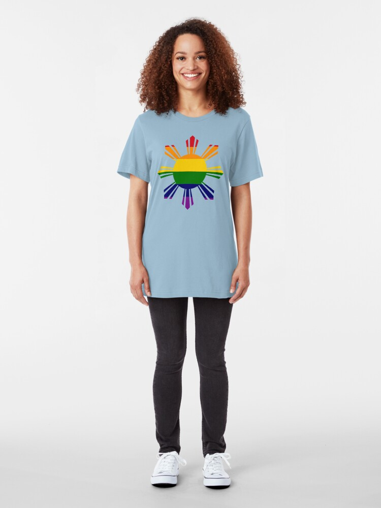 Alternate view of Pin*y Third Culture Series (Rainbow) Slim Fit T-Shirt