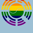 Korean Patriot Flag Series 1.0 (Rainbow) by Carbon-Fibre Media