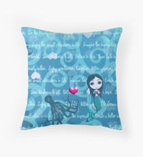 Inspired by You - Teal Mermaid, 1st of 4 Throw Pillow
