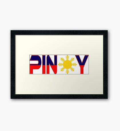 Pin*y Patriot Flag Series 1.0 Framed Print