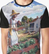 Family Vegetable Garden Country Farm Landscape  Graphic T-Shirt