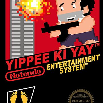 Retro Video Games Nintendo NES Cover Art Yippee Ki Yay by McPod