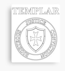 Templar Virtues of the Knights Templar Shield Canvas Print
