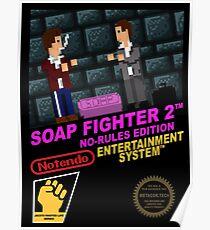 Retro Video Games Nintendo NES Cover Art Soap Fighter 2 Poster