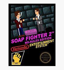 Retro Video Games Nintendo NES Cover Art Soap Fighter 2 Photographic Print
