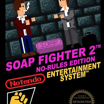 Retro Video Games Nintendo NES Cover Art Soap Fighter 2 by McPod