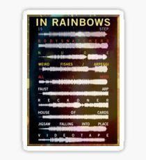 Radiohead - In Rainbows - Sound Wave Sticker