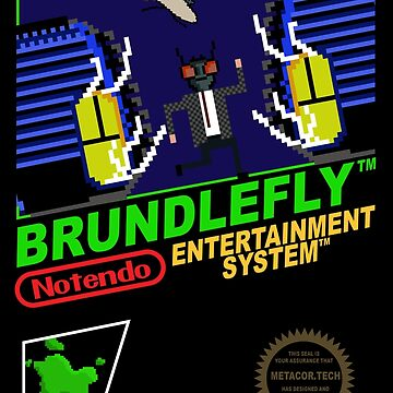 Retro Video Games Nintendo NES Cover Art Brundlefly by McPod