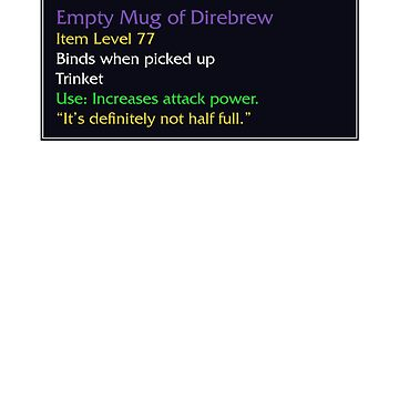 Empty Mug of Direbrew by snitts