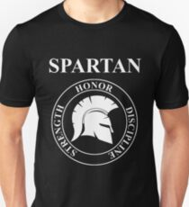 Spartan Warrior Virtues of Sparta  Slim Fit T-Shirt