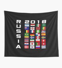 Russland 2018 WM 32 Team Nationalflaggen Wandbehang