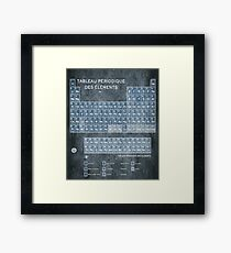 Tableau Periodiques Periodic Table Of The Elements Vintage Chart Silver French Periodic Table Gift Idea Apparel and Accessories Gifts Framed Print
