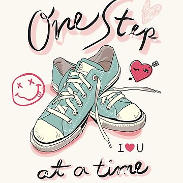 Slogan with pastel sneaker illustration by Camarada223