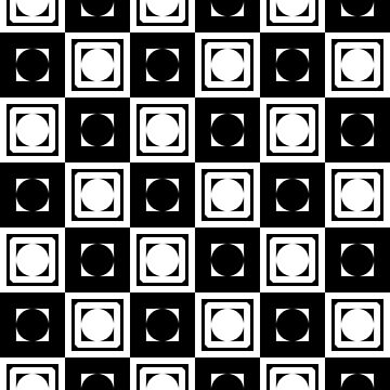 Black White Hollow Out Squares by xzendor7
