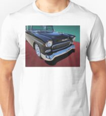 Classic Black and White 1950s Chevy Bel Air Unisex T-Shirt
