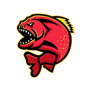 Piranha Sports Mascot by patrimonio