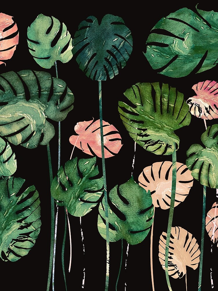 Tropical color leaves in dark by franciscomff
