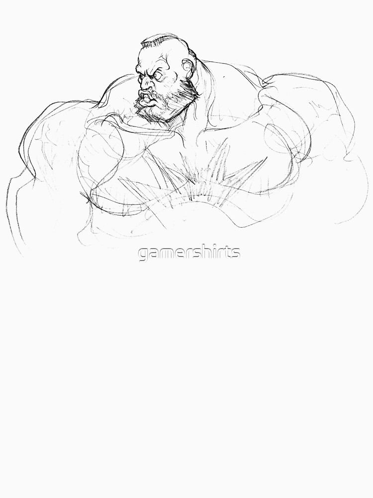Zangief Portrait by gamershirts