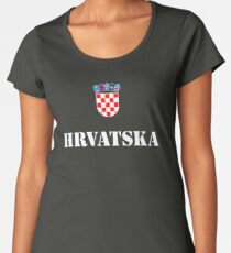 Croatia Hrvatska Soccer Croatian Football Women's Premium T-Shirt